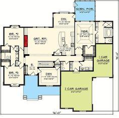 Split Bedroom Ranch Home Plan - 89872AH | Architectural Designs - House Plans
