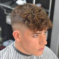 Hairstyles For Diamond Face Shapes - High Fade with Fringe
