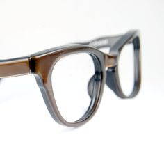 468647c1d72 Vintage 50s French Cat Eye Glasses Frames Brown satin Keyhole Bridge  Optical Frame France NOS 44 20