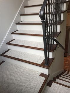 Use FLOR carpet tiles on your stairs.  Make them simply beautiful! #myflor Tile: Suit Yourself Linen