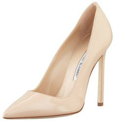 Manolo Blahnik BB Patent 115mm Pump, Nude (Made to Order) on shopstyle.com
