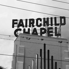 I think I may be the first person ever to take a photo of the Fairchild Chapel sign. I wonder why no one has taken a picture of it before? Oh well.