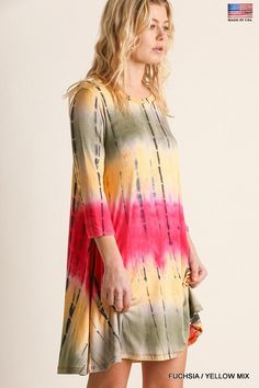 New Arrival 💃  Love this very soft.. 3/4 Sleeve Tie Dye Dress/Tunic    95% Rayon  5% Spandex | Shop this product here: http://spreesy.com/ddstallons/62 | Shop all of our products at http://spreesy.com/ddstallons    | Pinterest selling powered by Spreesy.com