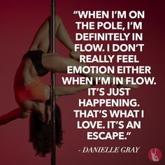Getting in flow. Danielle Gray fell in love with pole fitness and can't get enough. #fit #move #flow #pole #polefitness