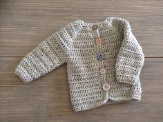 Heklet nyfødtjakke 1-2 mnd / Crochet baby jacket 1-2 months #hekle #crochet