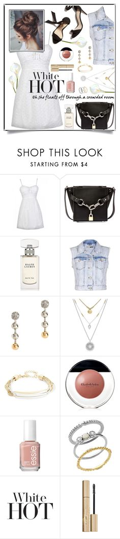"""Little White Dress"" by hubunch ❤ liked on Polyvore featuring Alexander Wang, Ralph Lauren, Topshop, Eddie Borgo, Lucky Brand, Design Lab, Elizabeth Arden, Essie, Lord & Taylor and whitedresscontest"
