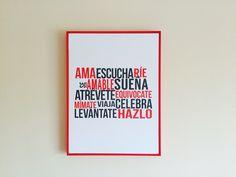 Ama escucha ríe #posters #Phraseando