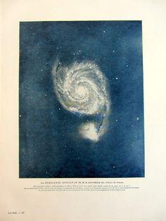 1923 Vintage Whirlpool Galaxy astronomy print by LyraNebulaPrints, $32.50
