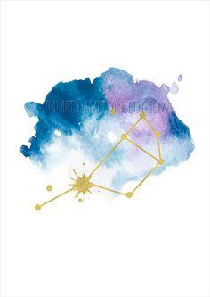Pleiades or Seven Sisters constellation print by HamptyDamptyArt