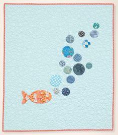 Bubbles quilt - modern baby quilt by Dana Bolyard