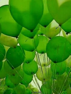 very beautiful visual but balloons that are not . Mean Green, Go Green, Green Colors, World Of Color, Color Of Life, Color Verde Claro, Aesthetic Colors, Orange Aesthetic, Green Life