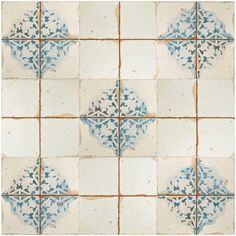 The popular Artisan Series now comes in a sample size. It is easy to picture sun-drenched streets of Spain when looking at the Merola Tile Artisan Azul Decor Ceramic Floor and Wall Tile - 13 in. x 13 Bathroom Flooring, Kitchen Flooring, Kitchen Backsplash, Ceramic Flooring, Ceramic Wall Tiles, Bathroom Remodeling, Kitchen Cabinets, Shower Floor, Tile Floor