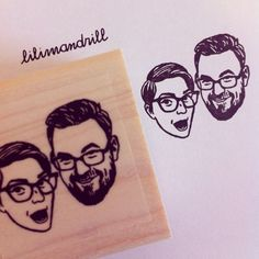 Custom Portrait Stamp @lilimandrill www.lilimandrill.fr #etsy #coupleportrait #EtsyGifts #EtsySuccess #etsywedding #wedding #mariage #bride #diy #couple #stamp #giftforcouple #handmade #gift #weddinggift #invitations #invites #etsylove #engagement #bride