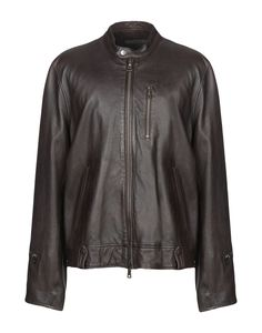 John Varvatos Leather Jacket In Dark Brown John Varvatos, Dark Brown, Leather Jacket, Mens Fashion, Long Sleeve, Jackets, Clothes, Collection, Shopping