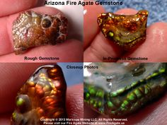 A bright metallic glow shows on this piece of fire agate. Currently working on the final polishing work to remove the last of the milky exterior coating. Currently Working, Agates, Agate Gemstone, Texture Design, Rocks And Minerals, Fossils, Geology, Jasper, Jewerly