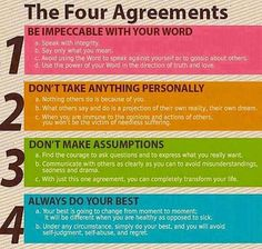 From The Four Agreements, by bestselling author don Miguel Ruiz.