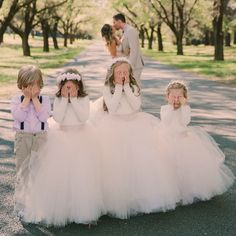Cute Long Sleeves Ivory Tulle Flower Girl Dresses for Wedding Flower Girl Dresses Cute Dresses Flower Girl Ivory long Sleeves Tulle Wedding Tulle Flower Girl, Tulle Flowers, Blush Flower Girl Dresses, Wedding Pics, Wedding Gowns, Dream Wedding, Tulle Wedding, Wedding White, Wedding Flowers