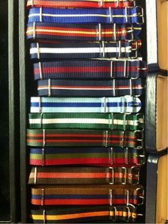 Grosgrain watchbands, J Press, Washington. I would go off my head just trying to decide which one of those to wear.