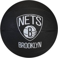 Spalding 65-960E Brooklyn Nets NBA Team Mini Rubber Basketball