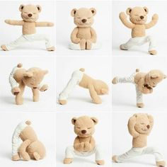 Meddy Teddy is a bendable meditating, yoga and mindfulness teddy bear. Teach kids/children by bending Meddy Teddy into different yoga and meditation poses. Baby Massage, Learn Yoga, How To Do Yoga, Chico Yoga, Yoga Zen, Yoga Position, Easy Meditation, Move Your Body, Tatty Teddy