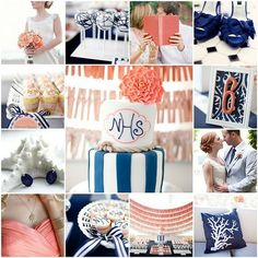 navy & coral by meghandarcy