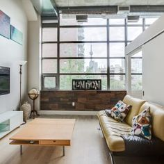 One Of Toronto's Most Desired Loft Buildings! This 1 Bedroom Authentic Hard Loft. Entryway Bench, Dining Bench, Condo, Loft, Bedroom, Building, Furniture, Home Decor, Entry Bench