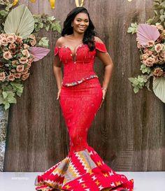African Wedding Dress, African Dress, Wedding Dresses, African Print Fashion, African Prints, Kente Dress, Girls Dresses Sewing, Kente Styles, Traditional Wedding