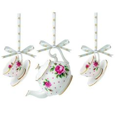 Royal Albert Tea Service Set, Includes Mini Teapot/Teacup and Saucer, Cheeky Pink, Set of 3