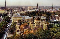 Skats no viesnīcas Latvija.