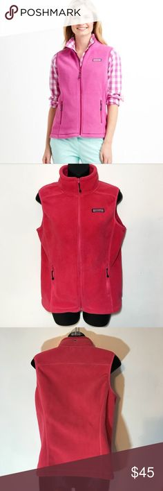 Vineyard Vines Pink Fleece Shep Shirt Vest XS Great condition no flaws -add your items to a bundle so I can make you a discount offer!  -some items prices are firm unless bundled  -no holds  -no trades  -same day or next day shipping Vineyard Vines Jackets & Coats Vests