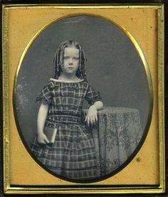Intense Curls on A Feisty Girl or Boy Dag Daguerreotype Pretty Case Velvet | eBay