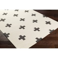 You'll love the Hilda Monica Hand-Crafted White/Black Area Rug at AllModern - With Great Deals on modern Décor  products and Free Shipping on most stuff, even the big stuff.