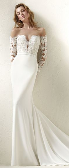 Fascinating Tulle & Acetate Satin Sheer Jewel Neckline Mermaid Wedding Dress With Lace Appliques & Belt