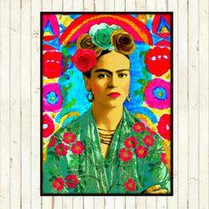 Hey, I found this really awesome Etsy listing at https://www.etsy.com/listing/217905516/frida-kahlo-retro-art-print-boho-instant