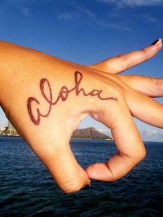 Aloha hand tattoo idea - http://www.beautifultattooideas.com/aloha-hand-tattoo-idea/