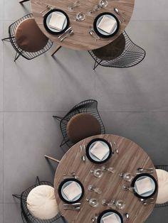 De  tegels zijn van keramiek, maar hebben de uitstraling van leisteen. Deze vloertegels zijn er in zeer grote formaten voor commerciële ruimten zoals restaurants of kantoren, maar ook in kleinere formaten die prachtig staan in lofts, woonkamers en andere huiselijke ruimten.  Formaten: 30x60, 60x60, 60x120, 120x120, 120x240. (37-DE-02) tegelhuys