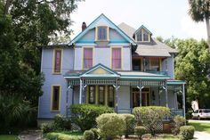 This stately Gothic Victorian. The Seven Sisters  Bed & Breakfast Inn was voted one of the most haunted in Florida. Located in Historic Downtown Ocala.