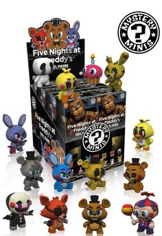 Case of 12 Funko Mystery Minis Fnaf Five Nights at Freddy's Blind Box Figures Five Nights At Freddy's, Vinyl Figures, Action Figures, Pop Figures, Funko Figures, Freddy Toys, Pop Disney, Fnaf Sister Location, Funko Mystery Minis
