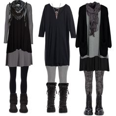 Plus Size Dark Mori by requiemofafaerie on Polyvore featuring moda, H&M, ONLY, Vero Moda, Boohoo, Old Navy, SPANX, Dr. Martens, Demonia and Bearpaw