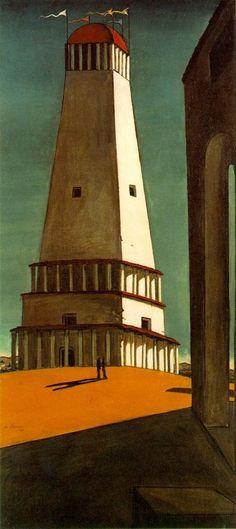 The Nostalgia of the Infinite, 1912-1913. Oil on canvas    by Giorgio de Chirico