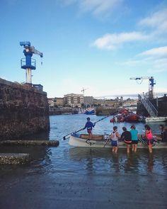 Ellas y el mar  #trainerafemenina #arraunlagulak #kaia #puertodonostia #donostia