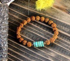 Rudraksha Turquoise Bracelet