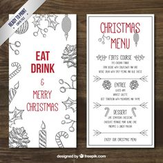retro christmas menu template in cardboard style free vector posters inspiration pinterest menu templates retro christmas and menu