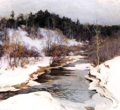 Hand painted reproduction of The Frozen Pool March 1909 painting. This masterpiece was painted originally by Willard Leroy Metcalf. Commission your beautiful hand painted reproduction of The Frozen Pool March Choose from many different sizes. Watercolor Landscape, Landscape Art, Landscape Paintings, Watercolor Paintings, Watercolors, Pastel Watercolor, American Impressionism, Winter Painting, Virtual Art