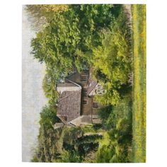"""10 by 14 jigsaw - House in the woods Jigsaw Puzzle Made of sturdy cardboard and mounted on chipboard, these puzzles are printed in vivid and full color, available in 2 sizes:  8"""" x 10"""" (110 pieces) or 10"""" x 14"""" (252 pieces). #wiltshire"""