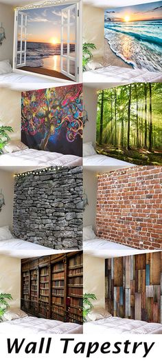 Free shipping over$39.Add instant style to your home with easy to hang wall tapestries.Available in a variety of points like brick or wood textures,beach or forest scenes,there's a tapestry for every room and every style.Shop home decor at dresslily#home