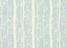 Cottonwood Floral Linen/Cotton Fabric Duck Egg at LAURA ASHLEY