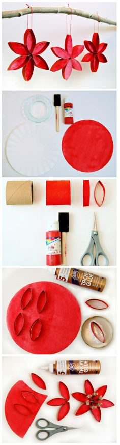 Christmas DIY ● Stained Glass Poinsettias