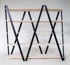 Regal Raumteiler Standregal Stehregal Holz Design Birkenschichtholz schwarz weiß in Möbel & Wohnen, Möbel, Regale & Aufbewahrung | eBay