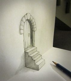 Pencil drawing with great 3D illusion effect | Vuing.com